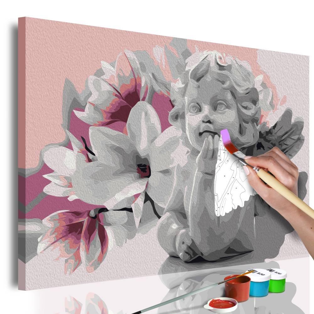 Doe-het-zelf op canvas schilderen - Droom van een engel 60x40cm