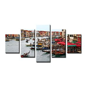 Schilderij - Gondels, 160X80cm, 5luik