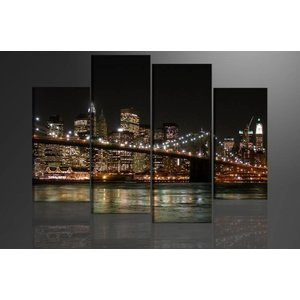 Schilderij - New York, 130X80cm, 4 luik