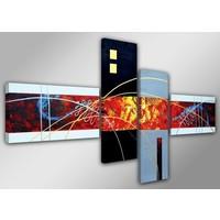 Schilderij - Abstract Colors, Multi-gekleurd, 160X70cm,4luik