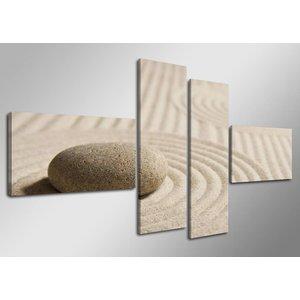 Schilderij - Witte Strand, 160X70cm, 4luik