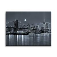 Schilderij - New York, Zwart-Wit, 40X30cm, 1luik