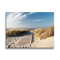 Schilderij - Noordzee, Blauw/Beige, 40X30cm, 1luik