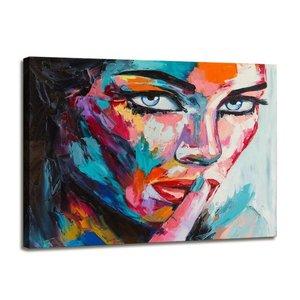 Schilderij - Vrouw, Multi-gekleurd, 80X60cm, 1luik