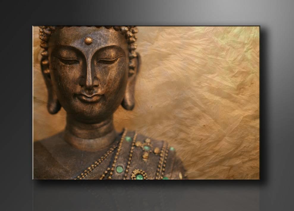 Schilderij - Boeddha, Bruin, 80X60cm, 1luik