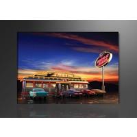Schilderij - USA Retro, Multi-gekleurd, 80X60cm, 1luik