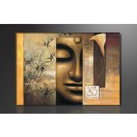 Schilderij - Buddha, Bruin, 80X60cm, 1luik