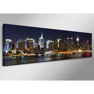 Schilderij - New York Stad, multi-gekleurd, 120X40cm, 1luik