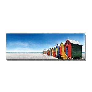Schilderij - Strandhuisje, multi-gekleurd, 120X40cm, 1luik