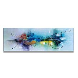 Schilderij - Abstract Gekleurd, 120X40cm, 1luik