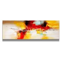 Schilderij - Abstract, Rood/Geel, 120X40cm, 1luik