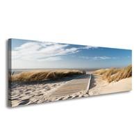 Schilderij - Noordzee, Blauw/Beige, 120X40cm, 1luik