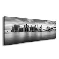 Schilderij - New York Zwart-Wit, 120X40cm, 1luik