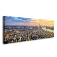 Schilderij - New York Sky View, Multi-gekleurd, 120X40cm, 1luik