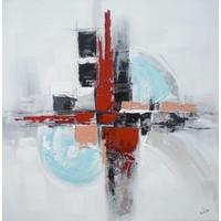 Schilderij - Handgeschilderd - Abstract 80cm rond