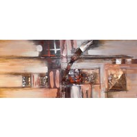 Schilderij - Handgeschilderd - Abstract 150X60cm