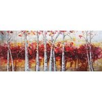 Schilderij - Handgeschilderd - Bos 2, 150x60cm