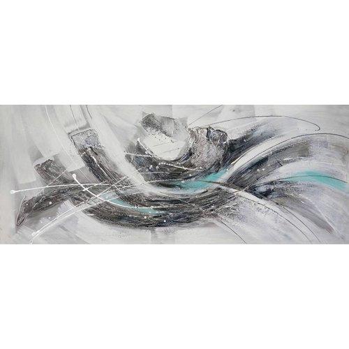 Schilderij - Handgeschilderd - Abstract 3 150x60cm