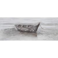 Schilderij - Handgeschilderd - Roeiboot 150x60cm
