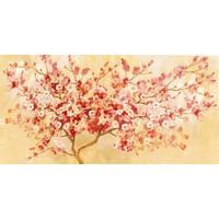 Schilderij - Handgeschilderd - Kersenbloesem 150x60cm