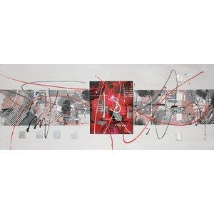 Schilderij - Handgeschilderd - Abstract 6, 150x60cm