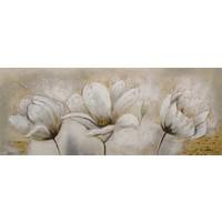 Schilderij - Handgeschilderd - Lelies 150x60cm