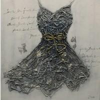 Schilderij - Handgeschilderd - Haute couture 100x100