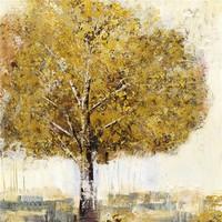 Schilderij - Handgeschilderd - Eenzame boom 3 100x100cm