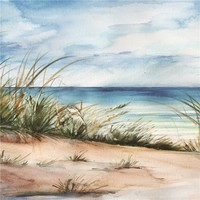 Schilderij - Handgeschilderd - Noordzee 2 100x100cm