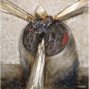 Schilderij - Handgeschilderd - Propellor 100x100cm