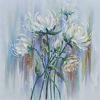 Schilderij - Handgeschilderd - Bloemen 3 100x100cm