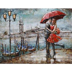 Schilderij - Metaalschilderij - Venetië, 120x80cm