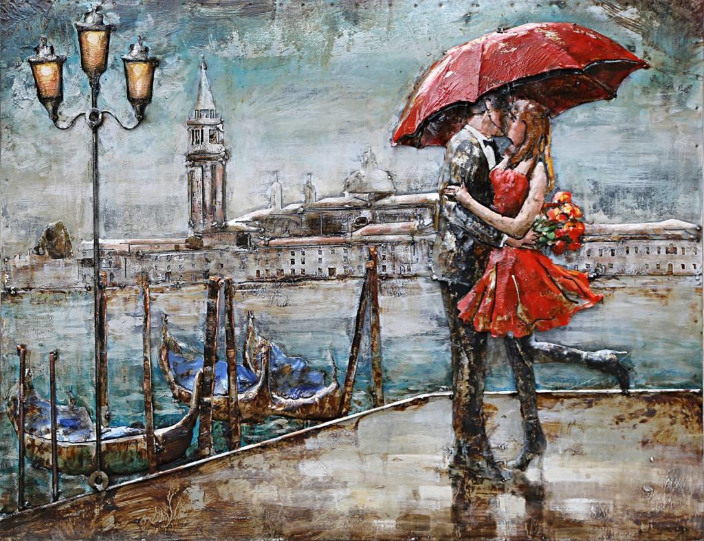 Schilderij - Metaalschilderij - Veneti�, 120x80cm