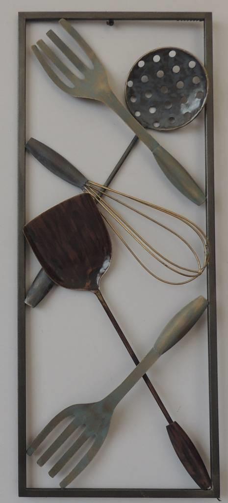 Frame 3D art - Voor in de keuken 25x60cm