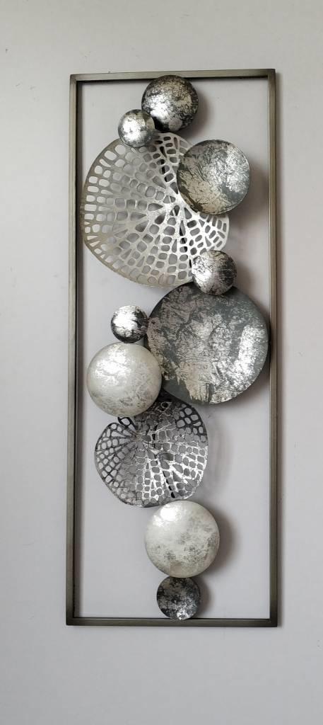 Frame 3D art - Zilver Blad 28X73cm