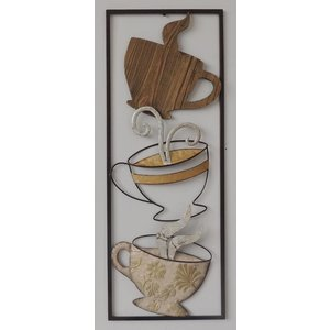 Frame 3D art  - Koffie 28X73cm