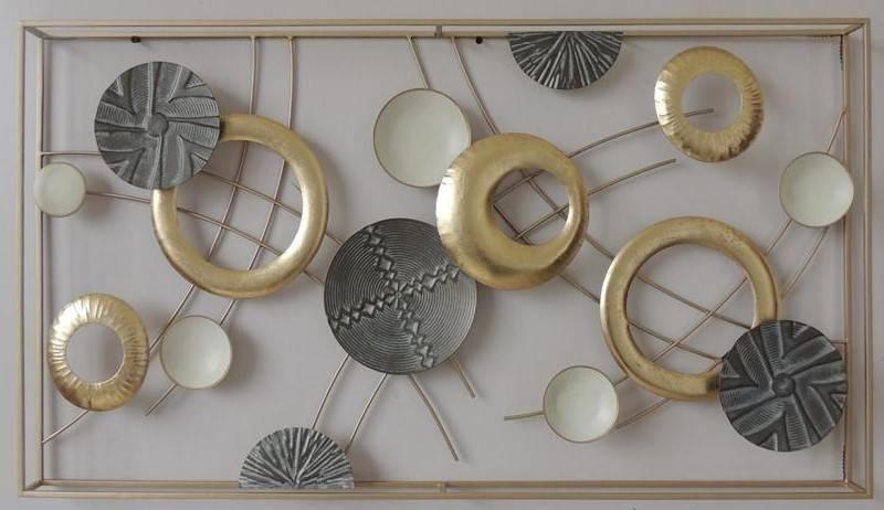 Frame 3D art - Gouden Abstractie 50X90cm