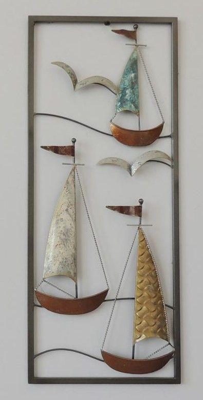 Frame 3D art - Zeilboot 25X60cm