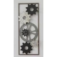 Frame 3D Art - Tandwielen 25X60cm