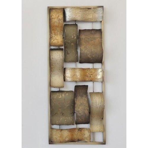 Frame 3D Art - Gouden Abstractie 25X60cm