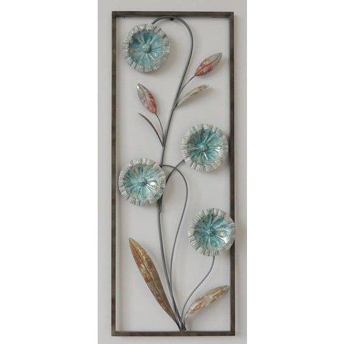 Frame 3D Art - Abstracte Bloemen 28X73cm