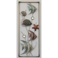 Frame 3D art - Vissen 28X73cm