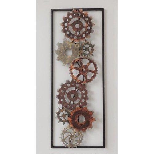 Frame 3D art - Tandwielen 2, 28X73cm