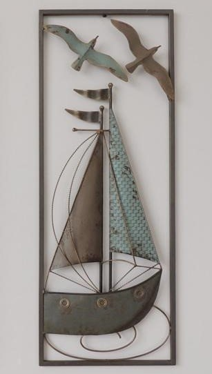 Frame 3D art - Zeilboot 2, 28X73cm