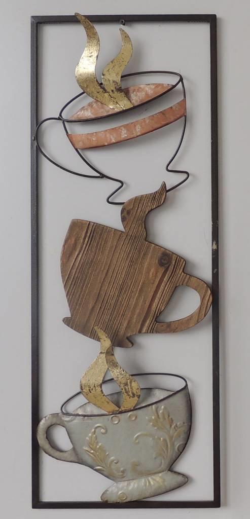 Frame 3D art - Koffie 2, 28X73cm