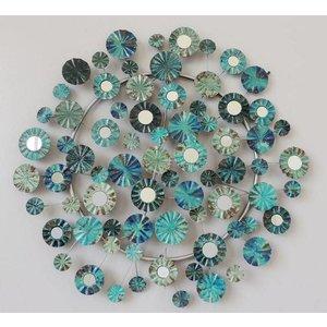 Frame 3D art - Blauwe Bloemen 72X69cm