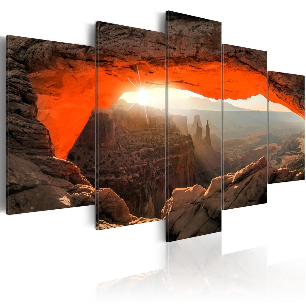Schilderij - Mesa Arch, Canyonlands National Park, USA, 5 luik
