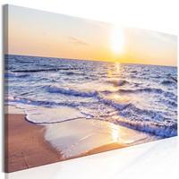 Schilderij - Rustige golven, zee