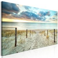 Schilderij - De weg naar de Noordzee, Nederland