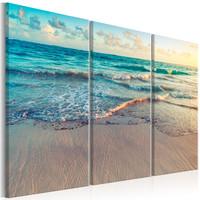 Schilderij - Strand Punta Cana, Dominicaanse Republiek III, 3 luik